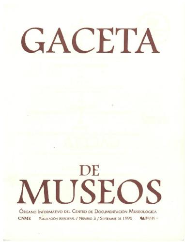Gaceta de Museos Num. 3 (1996)