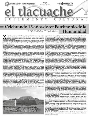 El Tlacuahce Num. 650 (2014)
