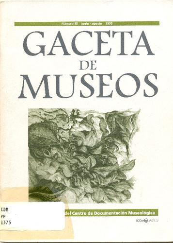 Gaceta de Museos Num. 10 (1998)