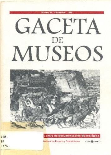 Gaceta de museos Num. 11 (1998)