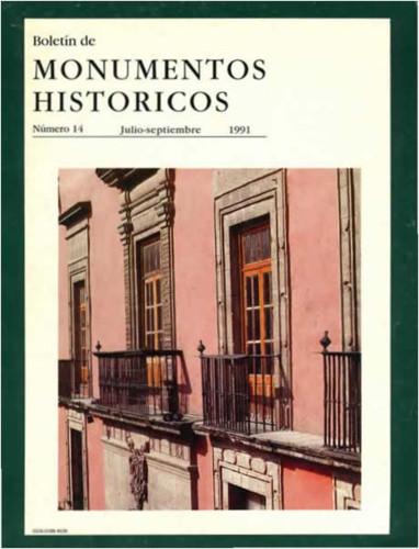 Boletín de Monumentos Históricos Núm. 14 (1991) (Segunda Época)
