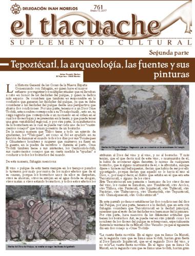 El Tlacuache Num. 761 (2017)