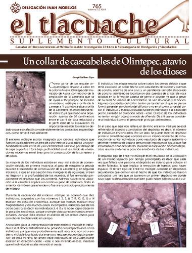 El Tlacuache Num. 765 (2017)