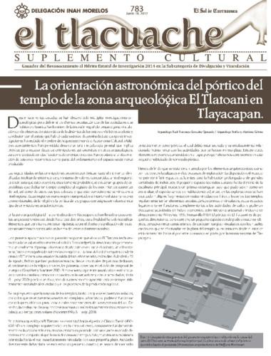 El Tlacuache Num. 783 (2017)