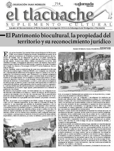 El Tlacuache Núm. 714 (2016)