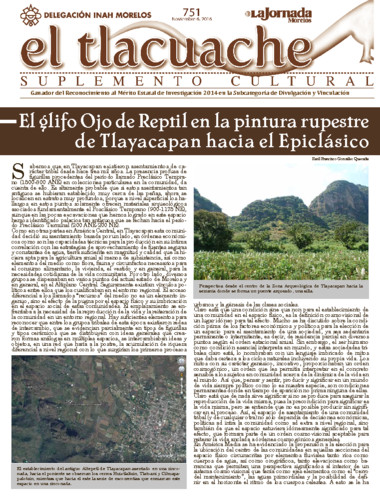 El Tlacuache Núm.. 751 (2016)