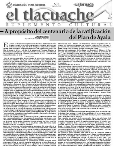 El Tlacuache Núm. 633 (2014)