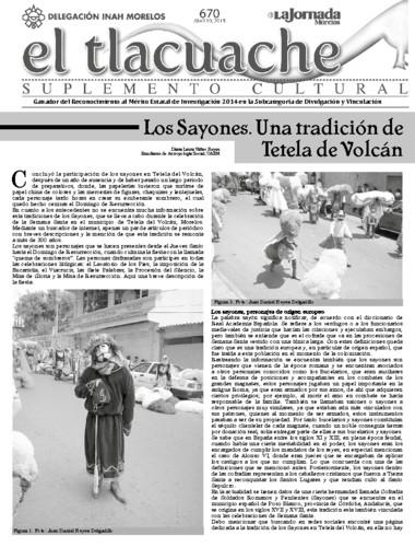 El Tlacuache Núm. 670 (2015)