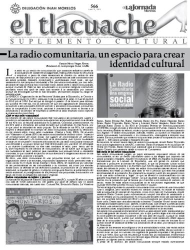 El Tlacuache Núm. 566 (2013)