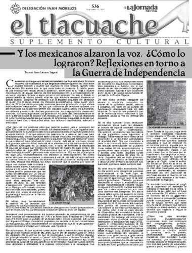 El Tlacuache Núm. 536 (2012)