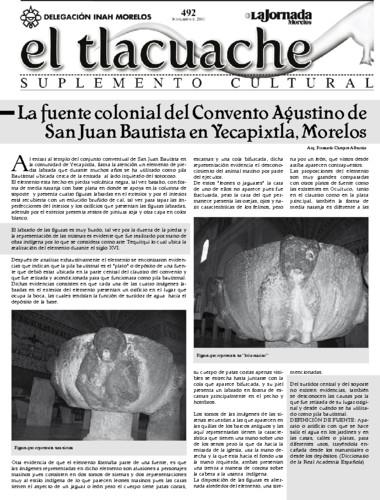 El Tlacuache Núm. 492 (2011)