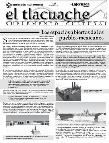 El Tlacuache Núm. 483 (2011)
