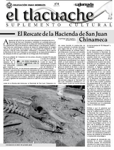 El Tlacuache Núm. 474 (2011)