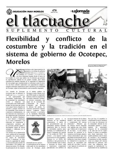 El Tlacuache Núm. 470 (2011)