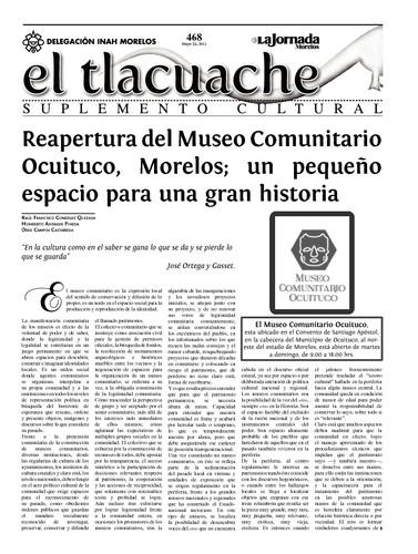 El Tlacuache Núm. 468 (2011)