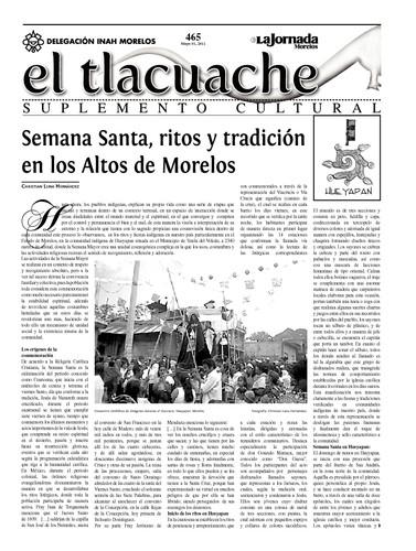 El Tlacuache Núm. 465 (2011)