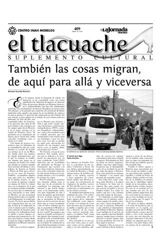 El Tlacuache Núm. 409 (2010)