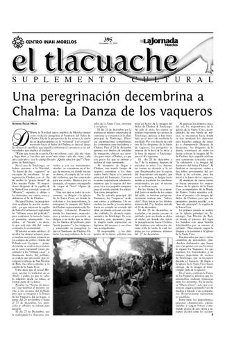 El Tlacuache Núm. 395 (2009)