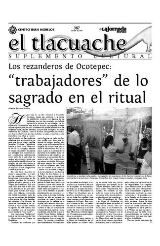 El Tlacuache Núm. 387 (2009)