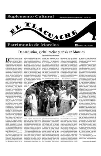 El Tlacuache Núm. 357 (2009)