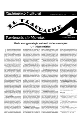 El Tlacuache Núm. 312 (2008)
