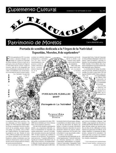 El Tlacuache Núm. 276 (2007)