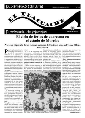 El Tlacuache Núm. 159 (2005)