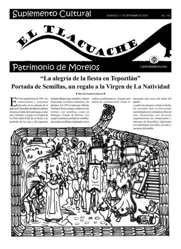 El Tlacuache Núm. 183 (2005)