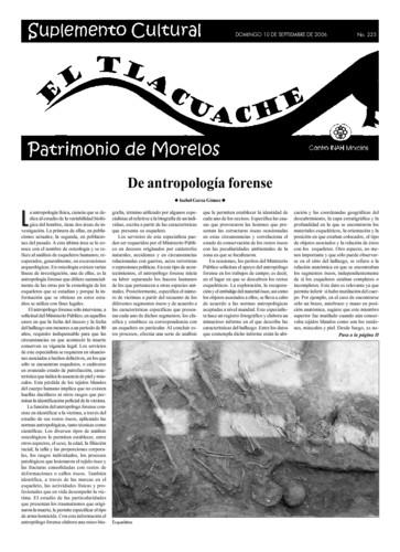 El Tlacuache Núm. 225 (2006)