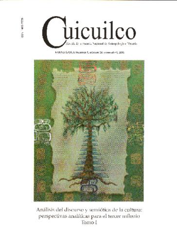Cuicuilco Vol. 9 Num. 24 (2002) Análisis del discurso y semiótica de la cultura: perspectivas analíticas para el tercer milenio Tomo I