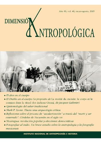 Dimensión Antropológica -  Vol. 46 (2009)