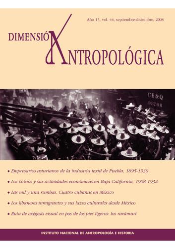 Dimensión Antropológica -  Vol. 44 (2008)