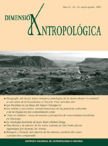 Dimensión Antropológica Vol. 34 (2005)