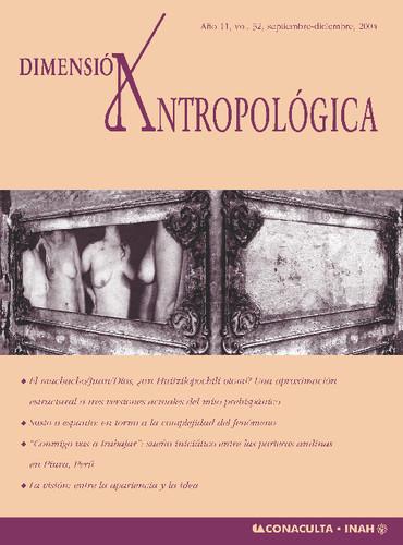 Dimensión Antropológica -  Vol. 32 (2004)