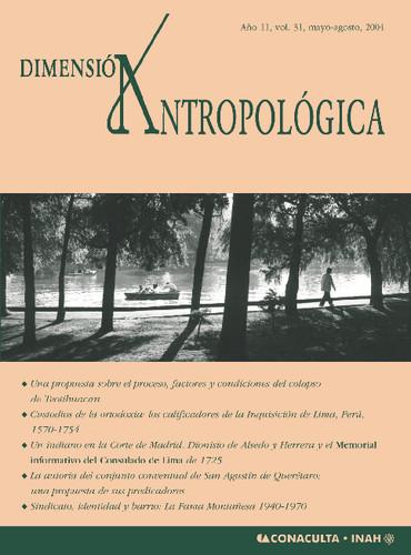 Dimensión Antropológica -  Vol. 31 (2004)