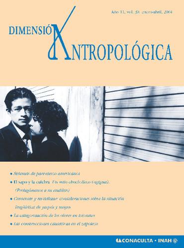 Dimensión Antropológica -  Vol. 30 (2004)