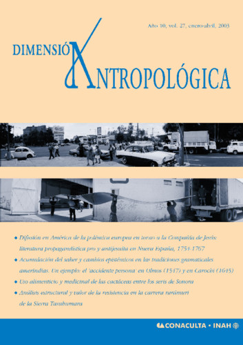 Dimensión Antropológica -  Vol. 27 (2003)