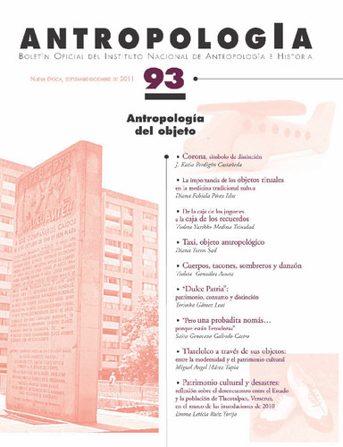 Antropología Num. 93 (2011) Antropología del objeto
