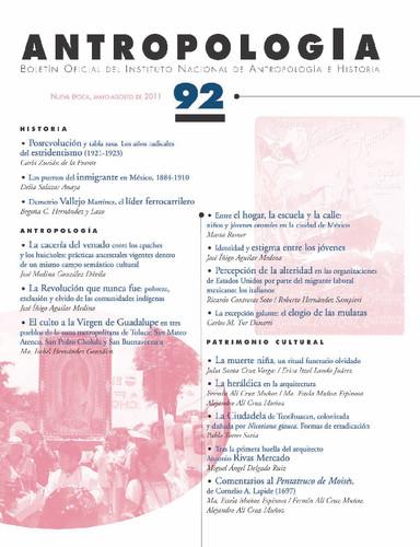 Antropología Num. 92 (2011)