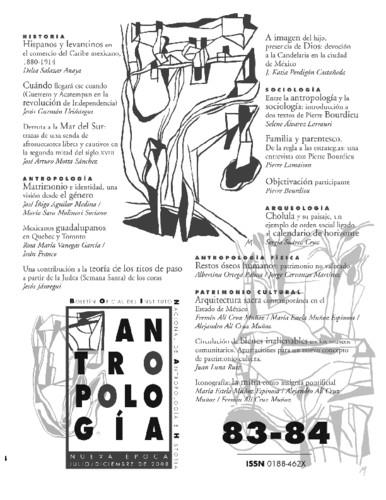 Antropología Num. 83-84 (2008)