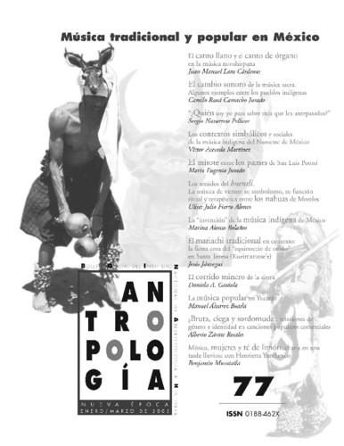 Antropología Num. 77 (2005) Música tradicional y popular en México