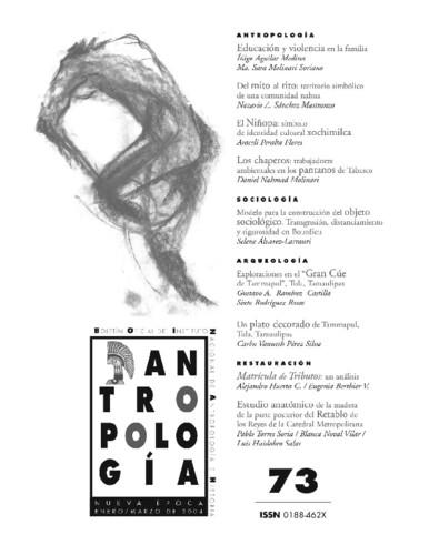 Antropología Num. 73 (2004)