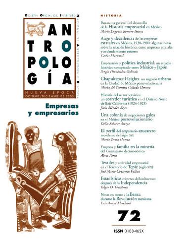 Antropología Num. 72 (2003) Empresas y empresarios