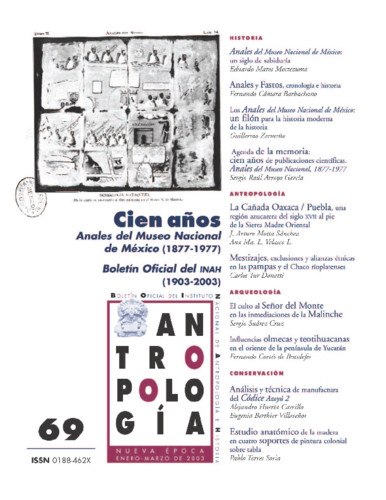 Antropología Num. 69 (2003) Cien años. Anales del Museo Nacional de México (1877-1977)
