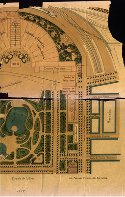 Plano del parque de la Ciudadela de Barcelona