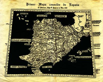 Primer mapa conocido de España