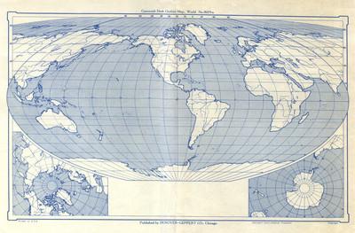 Cartocraft Desk Outline Map World