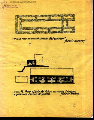 Plano del montículo llamado Estructura 3