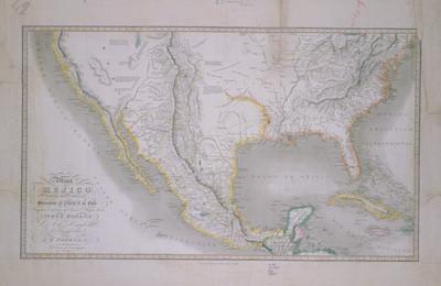 Mapa de Mejico y de los paises limitrofes situados al Norte y al Este trazado conforme al Gran Mapa
