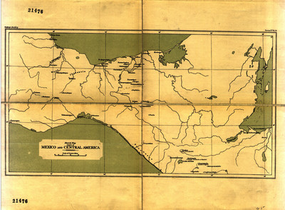 Sketch Map of Upart of Mexico and Central America